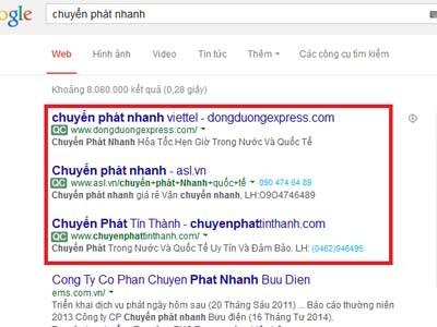 Công ty quảng cáo google lên top 1 - 3 uy tín giá rẽ