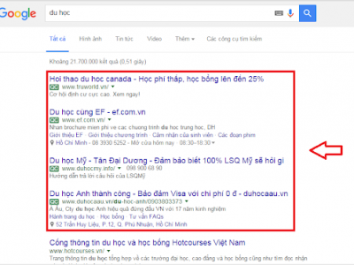 Dịch vụ quảng cáo lên top Google tại tphcm