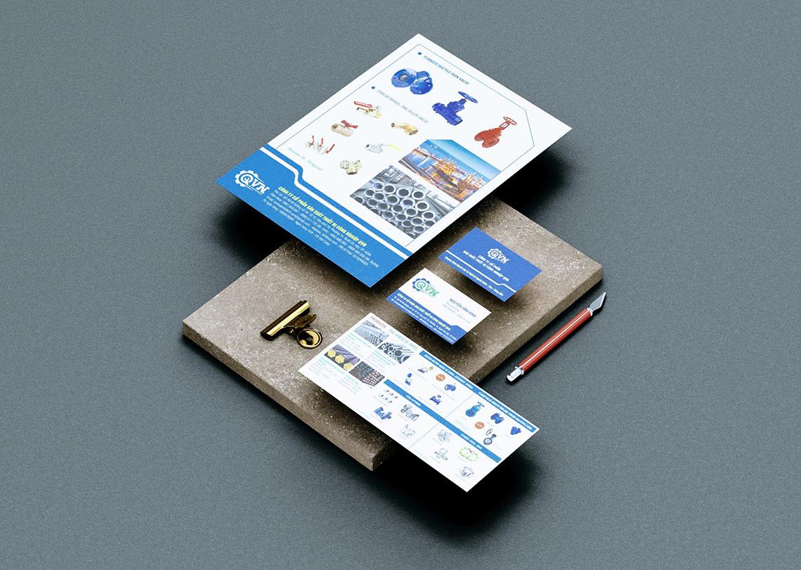 Logo, name card, folder - QVN