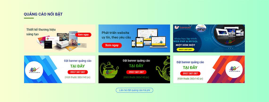 Đặt banner quảng cáo nổi bật tại trang chủ - www.quocbuugroup.com