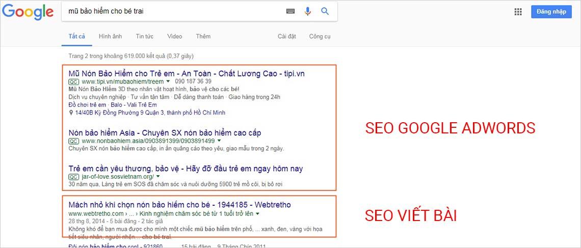 Seo từ khóa và seo google adwords tại tphcm uy tín chuyên nghiệp