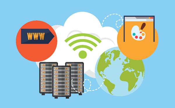 Website hoạt động cần hosting và domain