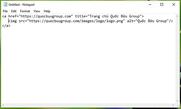 Ví dụ thẻ a và thẻ img trong html