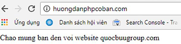 Code php hiển thị câu chào