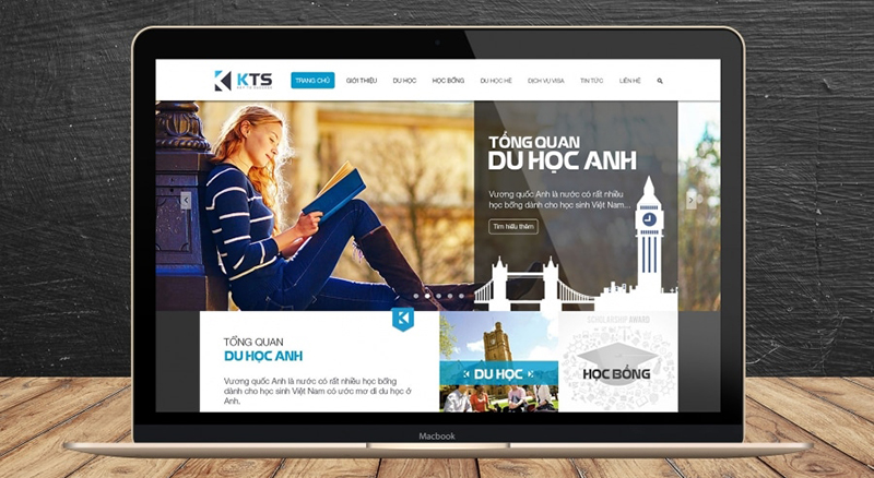Mẫu thiết kế website giao diện phẳng
