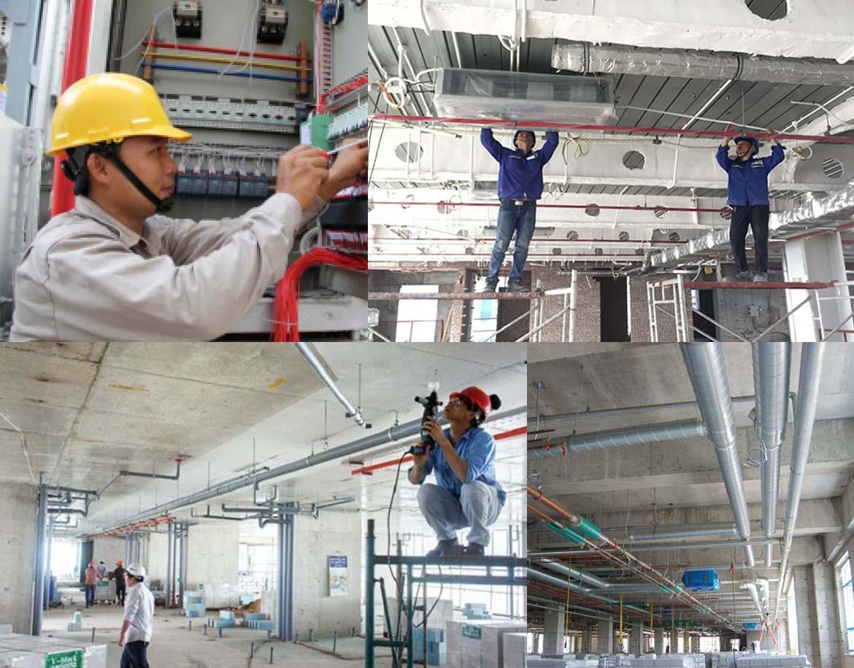 Thi công điện nước xây dựng, điện nước công nghiệp - www.quocbuugroup.com
